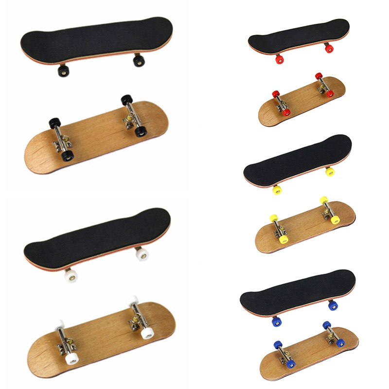 Professional Type Bearing Wheels Skid Pad Maple Wood Finger Skateboard Alloy Stent Bearing Wheel Fingerboard Toys