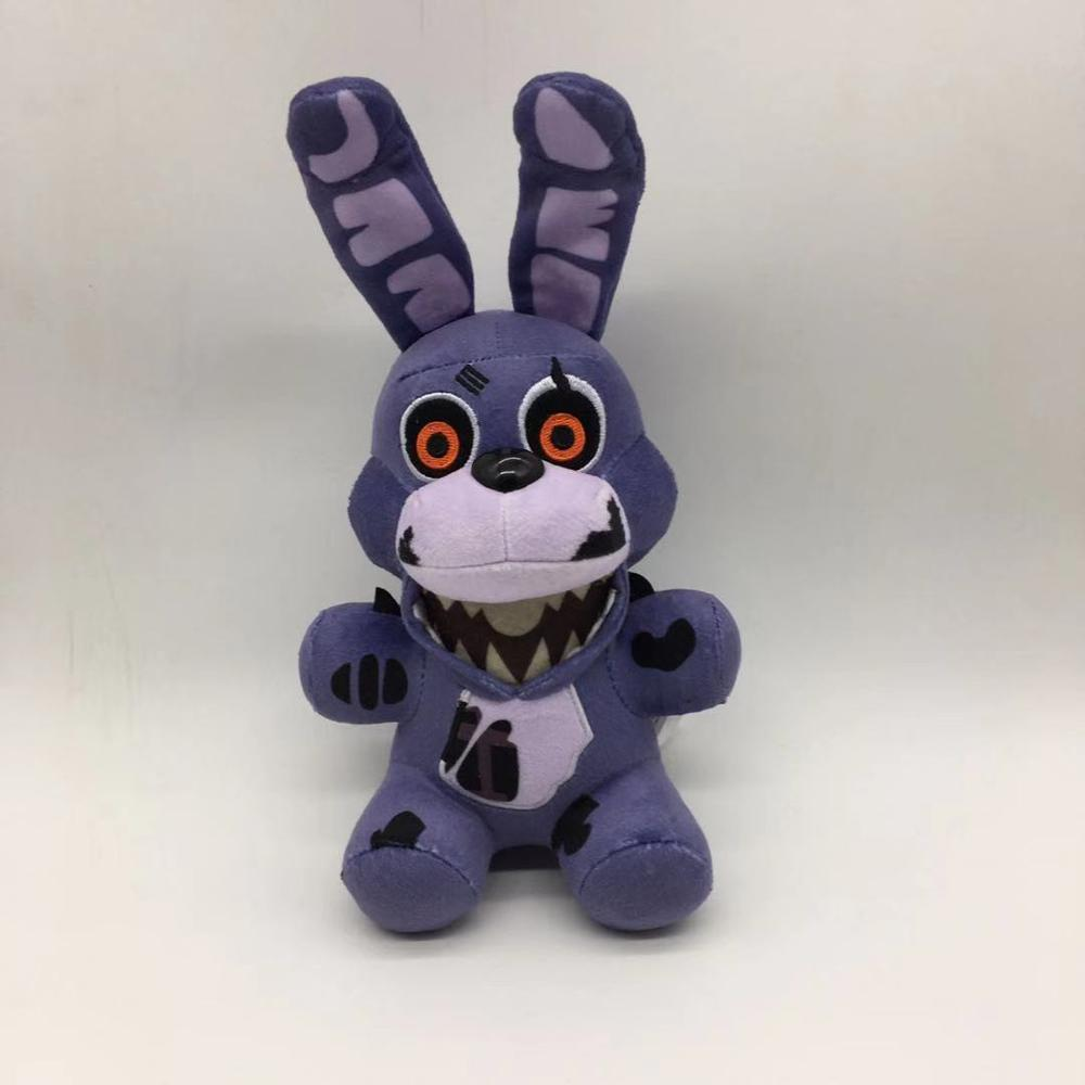 1pcs 18cm Five Nights At Freddy's 4 FNAF Nightmare Bonnie Rabbit Plush Toys Soft Stuffed Animals Toys Doll For Kids Gifts