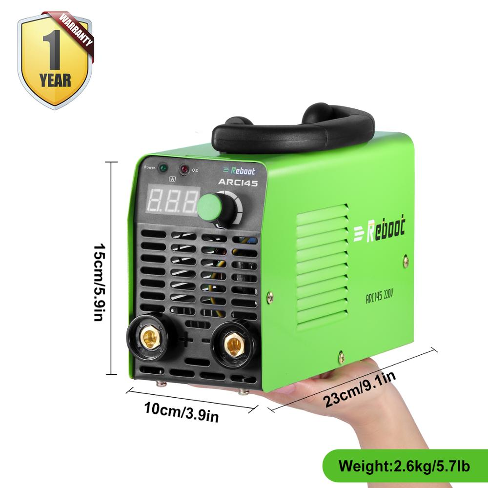 Weight Welder Light Portable 220V Welder Machine MMA Iron ARC Mini Welding Machine Stick REBOOT 145A Inverter Welder Welder