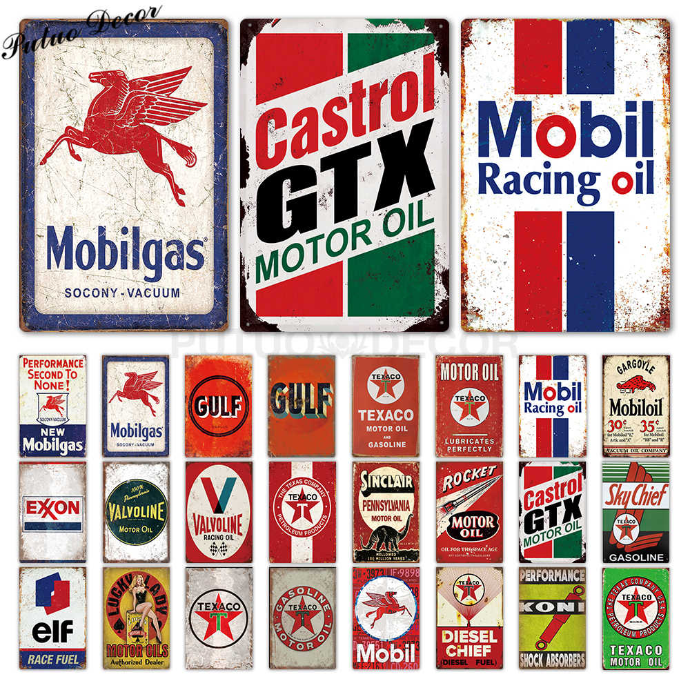 Motor Oil Plaque Tin Signs Vintage Metal Sign Retro Garage Decor Plaque Metal Vintage Bar Pub Garage Gas Station Decorative