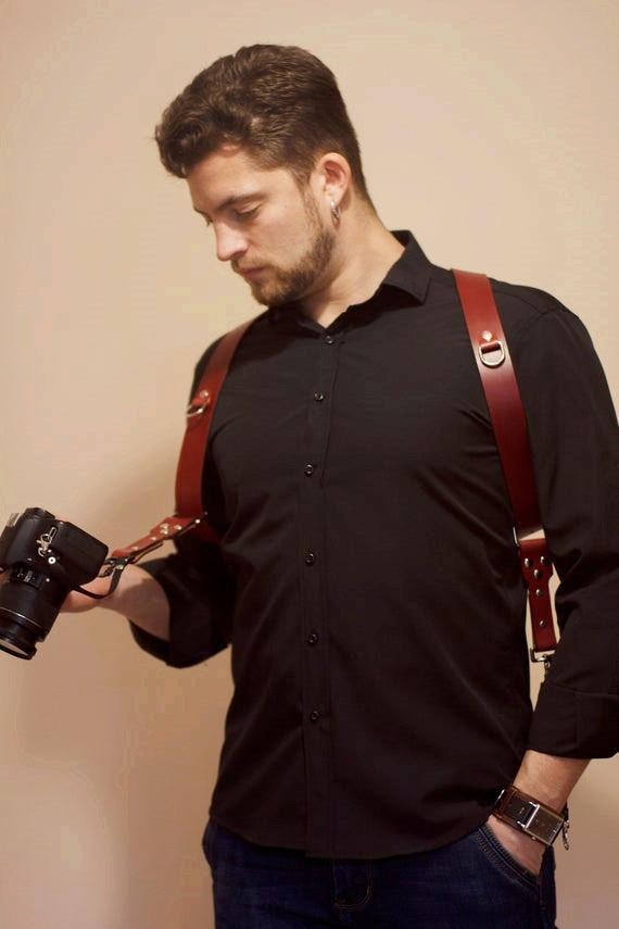 Vintage Men And Women Camera Straps Hang Tourism Belt Braces Bretelle Slinger Pu Leather Brace