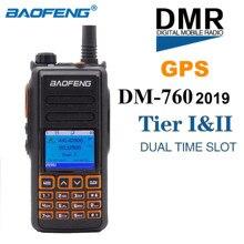 BaoFeng DM 760 Digital/Walkie parlanchín analógico, nivel 1 y 2, ranura de tiempo de banda Dual, grabación GPS de voz Dual, transceptor de Radio FM bidireccional DMR