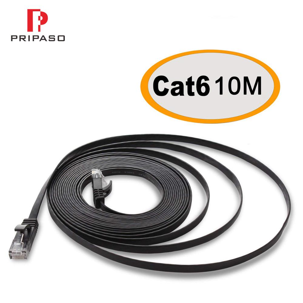 Top Quality Flat Ethernet Network LAN Cable UTP CAT 6 RJ 45 Network Cable For Pripaso IP Bullet Camera Network Lan Patch Cord