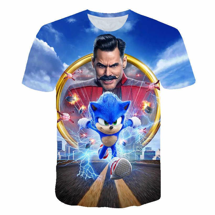 Sonic The Hedgehogฤดูร้อนเสื้อผ้าเด็กเสื้อผ้าเด็กTเสื้อแขนสั้นเสื้อยืดเด็กทารกเด็กผู้หญิงเสื้อลำลองเสื้อยืด 4-14Yrs