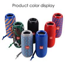 Haut parleurs Bluetooth portables sans fil TG117, barre de son stéréo, caisson de basses, Sports de plein air, Support étanche IPX5, carte TF, Radio FM AUX