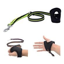 купить Reflective Nylon Elastic Dog Leash  with Grove Hand Free Running safe Walking Training Pet Dog Lead leash Orange Blue Green дешево