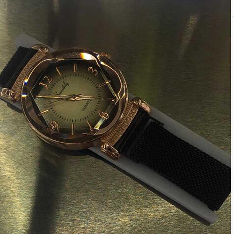 Zegarek damski moda dziki nowy zegarek Milan klamra magnetyczna luksusowa moda damska geometryczna cyfra rzymska zegarek z mechanizmem kwarcowym