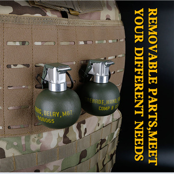 Airsoft M67 Frag Grenade Dummy Model BB Pouch Plastic Tactical Military Wargame Paintball Accessories Ball Molle System