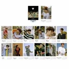 Table-Calendar GOT7 Stray Kids Office-Stationery SEVENTEEN Year NCT EXO TWICE Kpop Photo-Frame