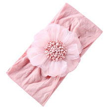 Newborn Headbands For Photography Baby Girls Kids Flower Headwrap Infant Babies Princess Turban Hair Accessories(China)