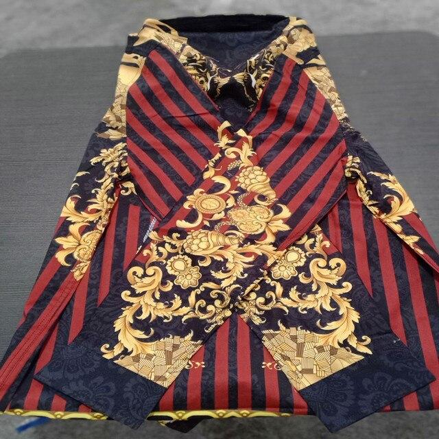 Chemise à manches longues pour hommes, de haute qualité, style ethnique, à la mode, chemise imprimée 3D, collection été décontracté