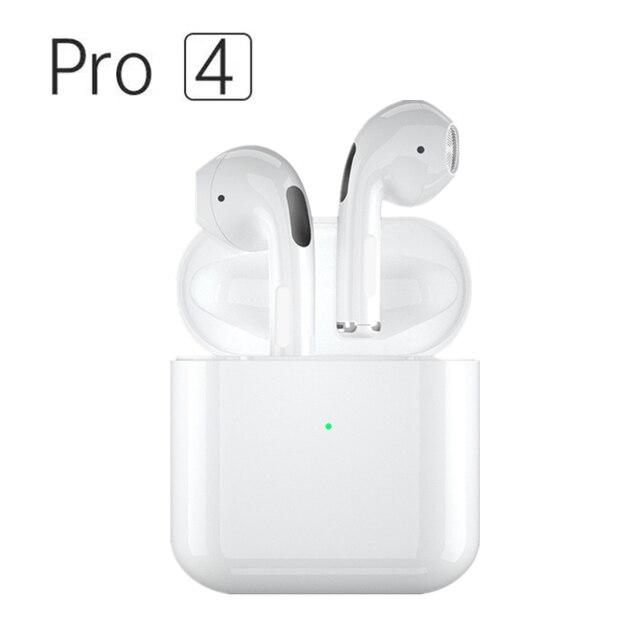Mini Pro 4 TWS Bluetooth Earphones Hi-Fi Wireless Headphones In-Ear Stereo Earbuds Hands-Free Headset For Smart Phone