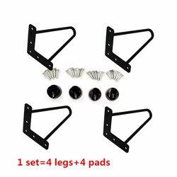 Pernas de mesa de metal de ferro 4/6/8 polegadas, acessórios para casa, pernas de mesa de móveis simples