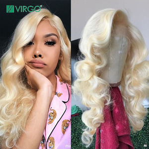 Virgo Brazilian 613 Body Wave Wig 13X6 Lace Front Human Hair Wig HD Transparent Lace Front Wigs For Black Women 150%Density Remy(China)