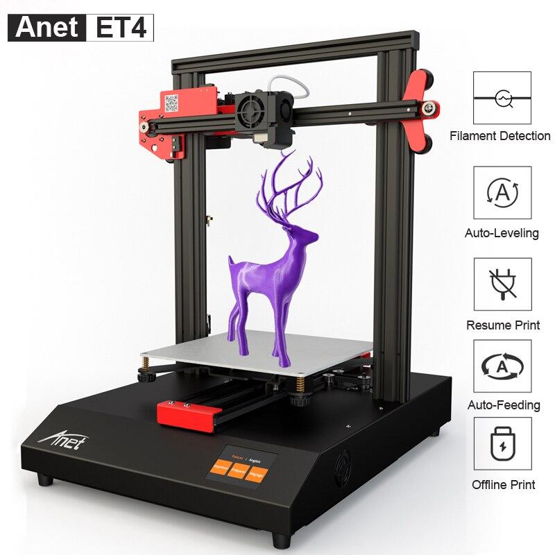 Offre spéciale compétitive Anet ET4 A8 Plus imprimante 3D Reprap Prusa i3 haute précision bricolage FDM imprimante 3D avec Auto-nivellement