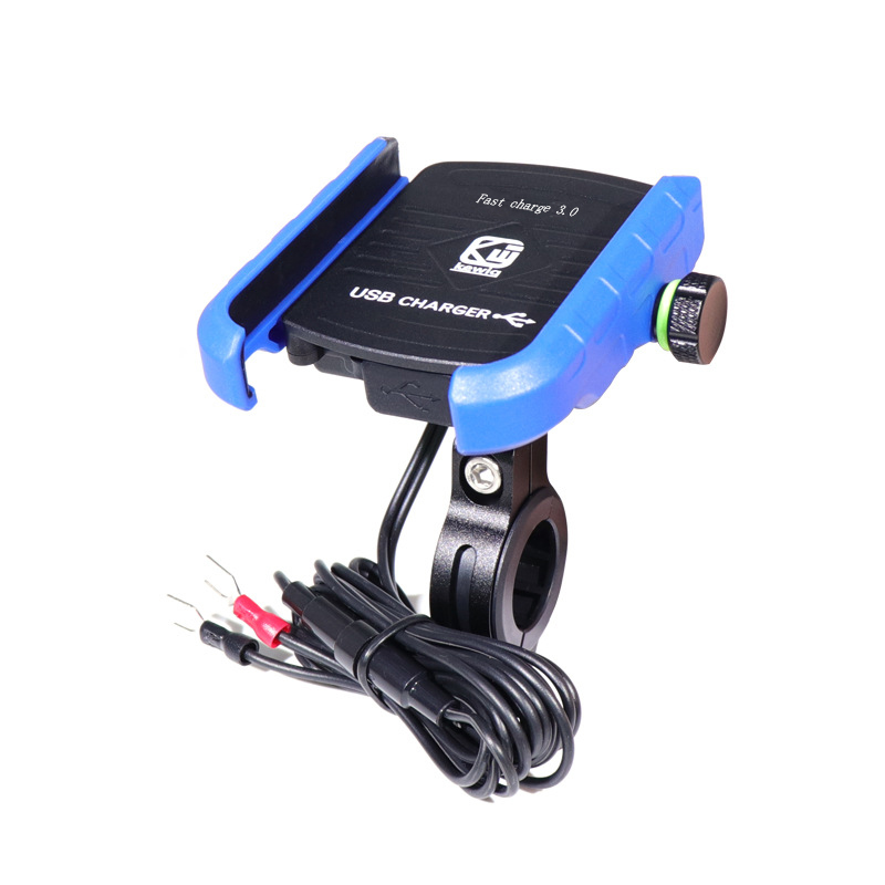 Motorcycle Phone Holder Qi Wireless Charging Charger Waterproof Bracket Mount Stand 360 Degrees RotationPractical Convenient