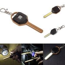 Mini LED Flashlight Light Mini Key Shape Keychain Lamp Torch Emergency Camping Light