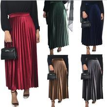 Muslim-Skirt F1734 Velvet Female Great-Quality Vintage Full-Length