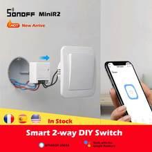 SONOFF – interrupteur intelligent sans fil miniir2, wi-fi, avec minuteur R2, automatisation, Compatible avec eWelink Alexa Google Home, 1-30 pièces
