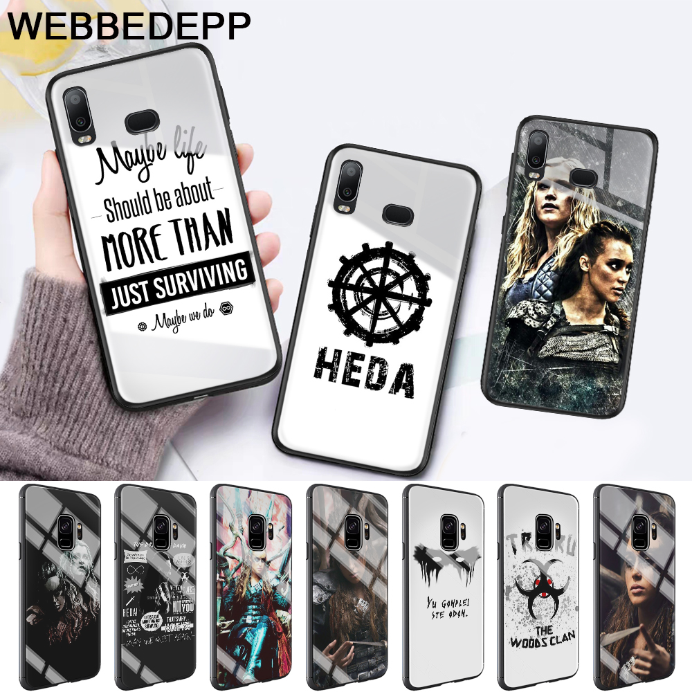 Heda Lexa The 100 TV Show <font><b>Coque</b></font> Glass Case for <font><b>Samsung</b></font> S7 Edge S8 S9 S10 Plus <font><b>A10</b></font> A20 A30 A40 A50 A60 A70Note 8 9 10 image