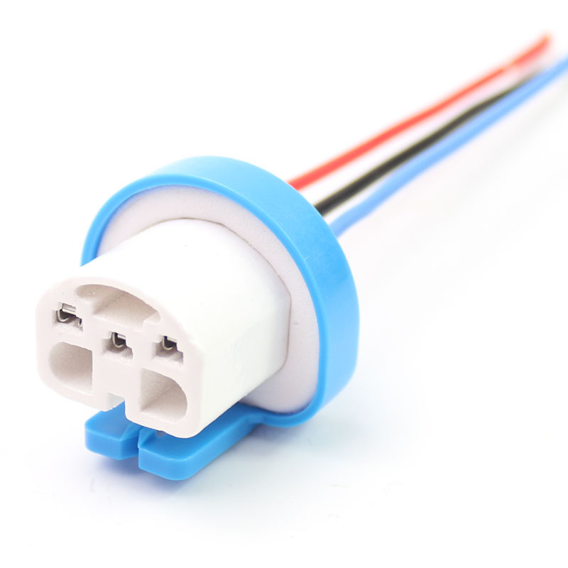 9004 Car Headlight HB1 Socket Ceramic Car Bulb 9007 Socket HB5 Bulb Plug Female Insert Wiring Harness