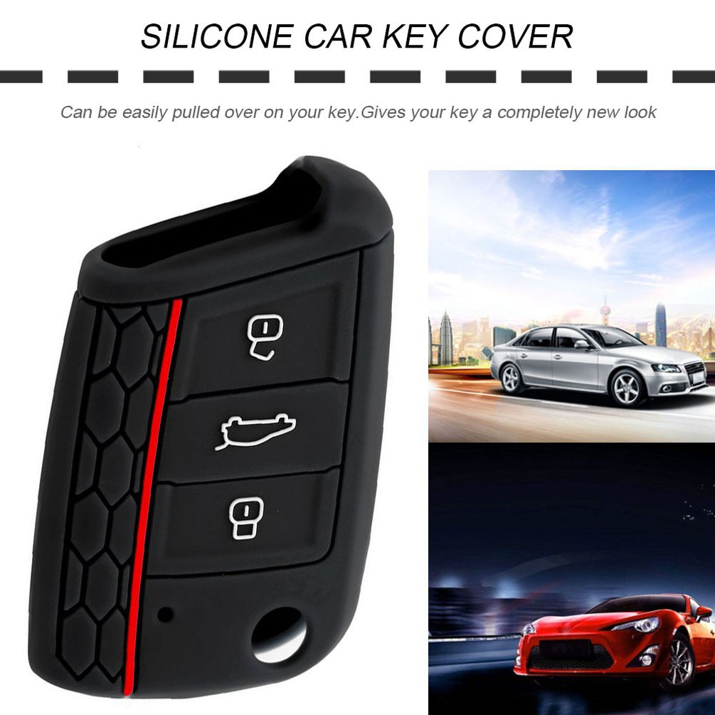 Funda clave ve azul de silicona protección llaves del coche cover control remoto