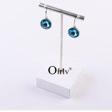 6 PCS/LOT  Metal T bar Earrings Display Rack Stand Women Jewelry Display Holder Exhibitor Showcase Jewelry Organizer