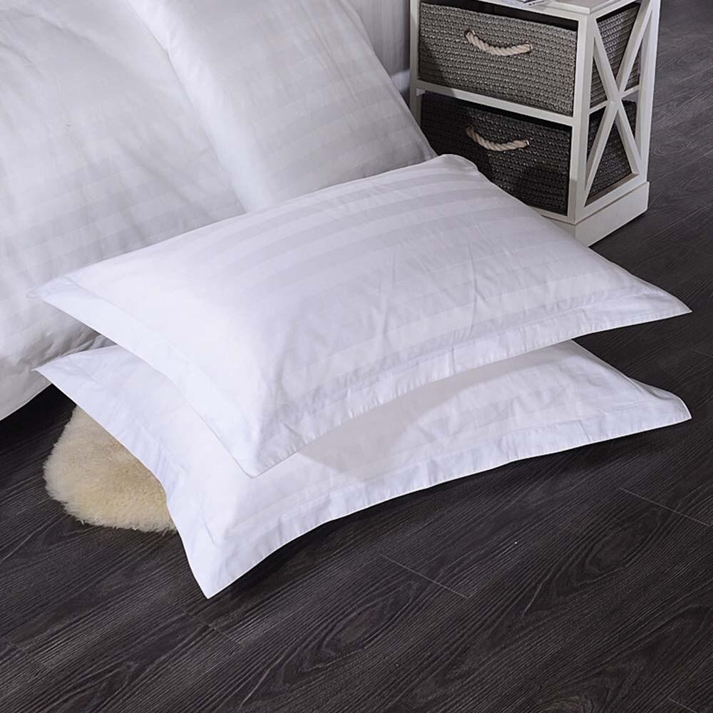 50*80/58*88cm Hotel Supplies Home Bedding Cotton Pure White Encryption Pillowcase Satin Pillow Case