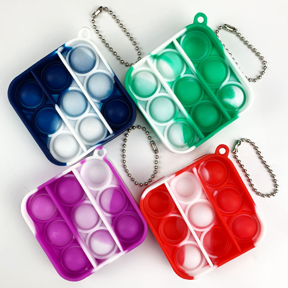 Key-Ring It-Fidget-Toys Educational-Toy Anti-Stress-Pop Push Bubble Adult Mini Children
