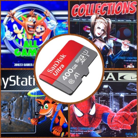 400 GB Retropie SD Card - Latest Raspberry Pi 3 B+ 30,800+ Games! 3D Boxart, Video Preview, Emulation Station, Multi Emulators