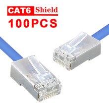 Conectores transparentes duráveis do escudo da cabeça dos cristais do conector de cristal rj45 de alta velocidade dos pces pohiks 100