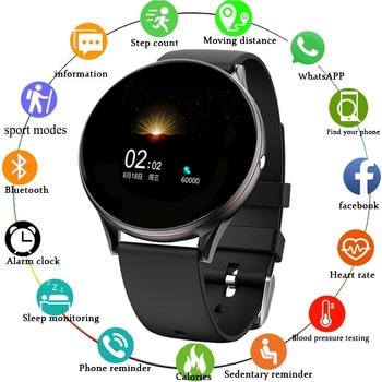 LIGE 2020 New Smart Watch Men and Women Heart Rate Pedometer Multifunctional Sports Waterproof Smartwatch Fitness Tracker + Box