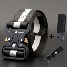 Belt AWMN Canvas Metal-Buckle Multi-Function Nylon Quick-Drying 115-135CM Tactical Male