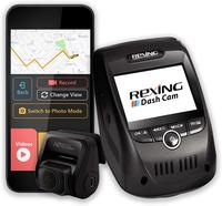Rexing V1P Pro Dual 1080p Full HD Front and Rear 170 Degree Wide Angle Wi Fi Car Dash Cam with Built in GPS Logger