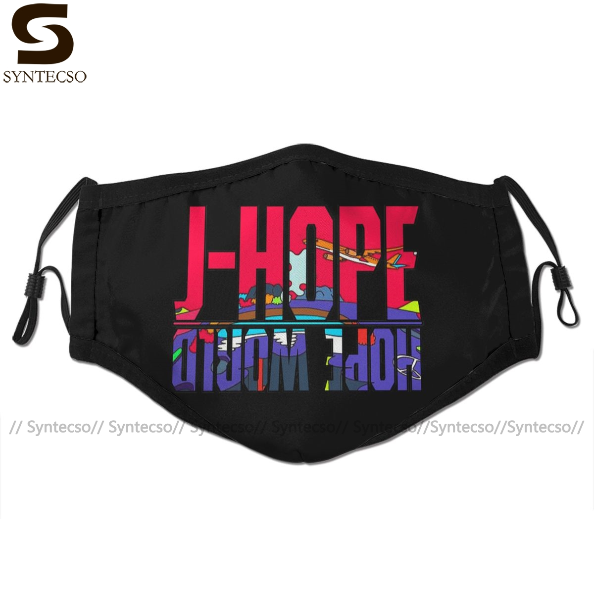 Hope World Mouth Face Mask J-hope Hope World Facial Mask Funny Kawai With 2 Filters For Adult