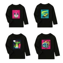 New Kids T-shirts For Boys Long Sleeve t shirts Girls Top Tees Autumn Winter Children T Shirts Clothing Cotton Sweatshirt