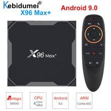 TV Box Android 9.0 X96 Max+ Set top Box WiFi Bluetooth Amlogic S905x3 8K Smart Media Player 4GB 32GB/64GB G10s I8 Keyboard