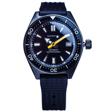 Sapphire Crystal 42.5mm Black Dial Ceramic Bezel Black PVD Coated Case 200M Waterproof NH35A Automatic Movement Men Diving Watch