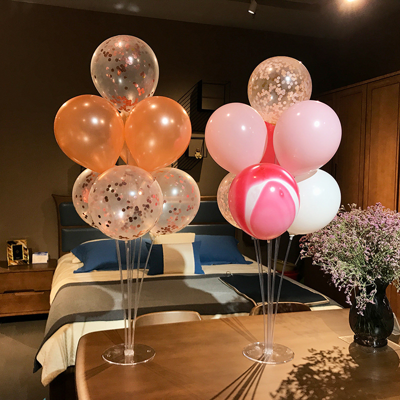 Birthday Party Decorations Adult Kids Plastic Balloons Stand With BalloonsTable Floating Balloon Support Rack For  Party