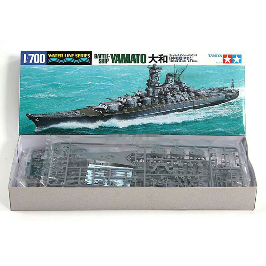 Tamiya 31113 Military <font><b>Ship</b></font> <font><b>Model</b></font> Building Kits <font><b>1</b></font>: <font><b>700</b></font> <font><b>Scale</b></font> Water Line Series Battle-<font><b>Ship</b></font> YAMATO Assembly Toys For Kids & Adults image
