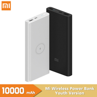 Xiaomi Wireless Power Bank Youth Version 10000mAh 10W Qi Wireless Quick Charge 18W USB Fast Charging Portable Charger Powerbank