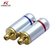 2pcs MMCX Conector MMCX, Plugues de Pino Para Shure ED5 SE535, Puro Cobre Banhado A Ouro com Conector MMCX