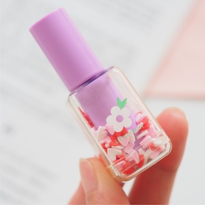 Image 4 - 4 set/Lot Mini bottle color Highlighter pens Lipstick flower daisy marker liner pen Stationery office School drawing art A6827