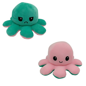 Милая мягкая двухсторонняя игрушка осьминог, рождественский подарок для детей, двухсторонняя флип плюшевая игрушка, подарок на день рождения для детей, быстрая доставка Мягкие игрушки животные      АлиЭкспресс