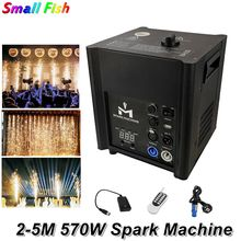 Free Shipping Fireworks Machine 570W Cold Spark Machine Wedding Flame Fountain DMX / Remote Control Sparkly Machine Dj Equipment d08 single remote control eight channel receiver indoor fountain base wedding machine