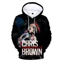 2020 модный дизайн 3d chris brown Мужские Молодежные Кофты с