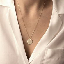 Minimalist Gold/Silver Round Pendant Chain Necklace Bohemia Simple Moon Star Heart Choker Women Bijoux Collier