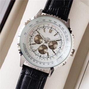Топ Автоматический стальной хронограф мужские часы Роскошный топ бренд кварцевые часы синие военные спортивные наручные часы Relogios часы