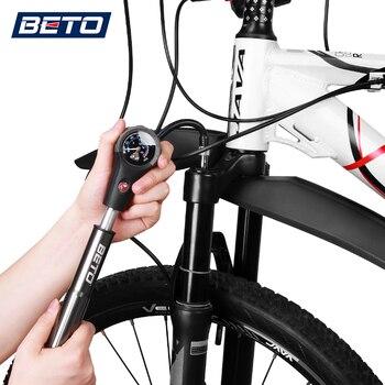 Beto Combo Fahrrad Pumpen Für Reifen Schock Gabel Schlauch Fahrrad Pumpe Hochdruck Gauge Straße Mtb Radfahren Air Inflator Hand Fahrrad Pumpe