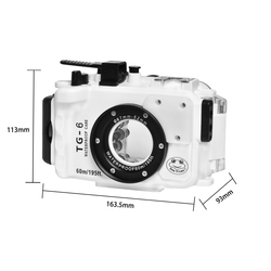 Underwater Camera Housing 60M/195ft Diving Camera Case For Olympus TG6 TG-6 Protective Case Cover For Swimming Diving 1PC